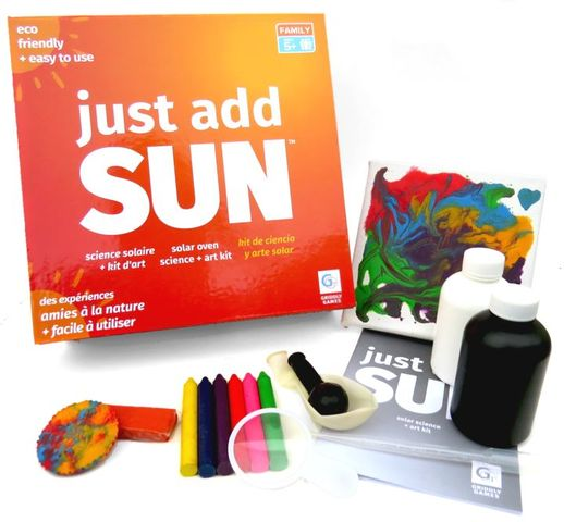Just Add Sun, the new solar science and craft kit from Griddly Games
