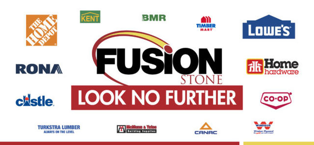 Once your decided to take on a DIY project and have chosen Fusion Stone, you can find our products from any of our 1,500 dealers in our national network, you won't have to go far to do so