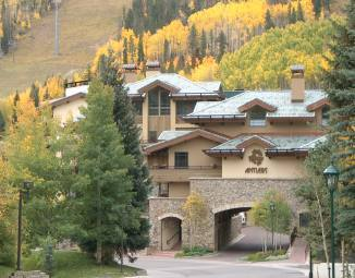 The Antlers at Vail hotel is located at the base of beautiful Vail Mountain.