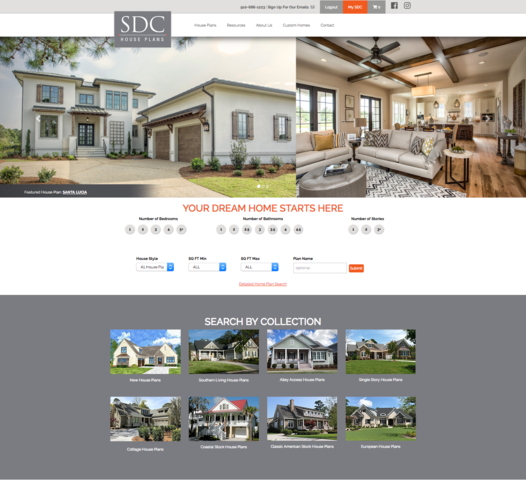 SDC House Plans home page