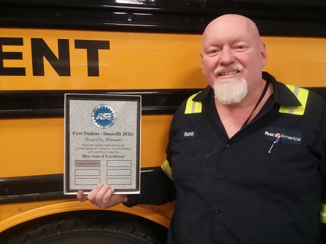 Randy Stephenson is now one of only about 1,400 ASE-certified master school bus technicians in the US.