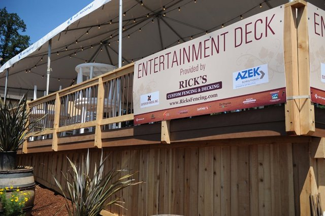 Entertainment Deck for NW Natural Street of Dreams, built by Rick's Custom Fencing & Decking
