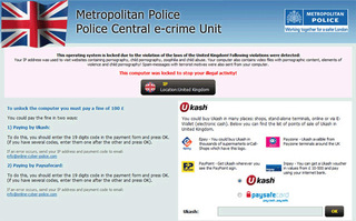 Police Central E-crime Unit (PCEU) Ransomware Seeks Outrageous Ransom Fees on Infected PCs