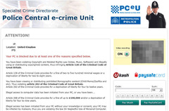 If you see the message from Police Central E-crime Unit Ransomware, do not pay the ransom money or provide any personal information.