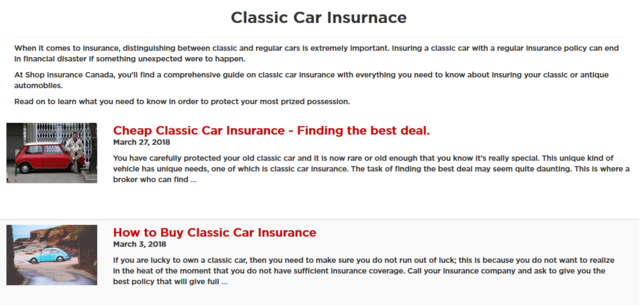 You need to have the right requirements for Classic Car Insurance