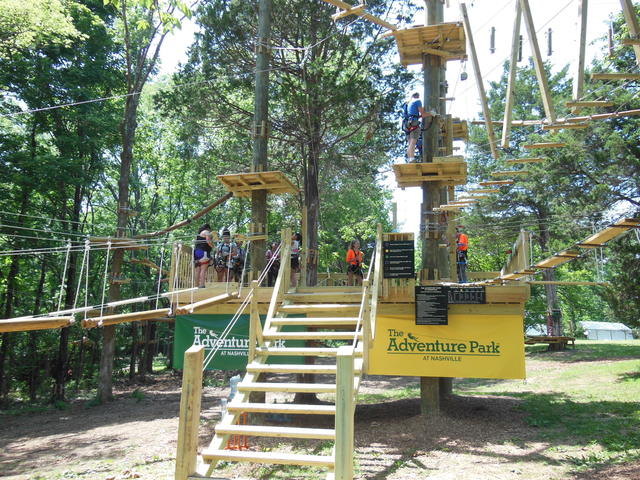 The Starting Platform at The Adventure Park at Nashville