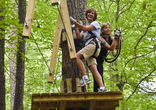 "Teachers Climb for Free at The Adventure Park at The Discovery Museum, August 13 – 17 for ""Teacher Appreciati…"