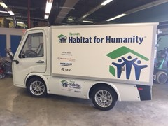 Houston Habitat for Humanity all-utility AEV donated by Kyrish Truck Centers.