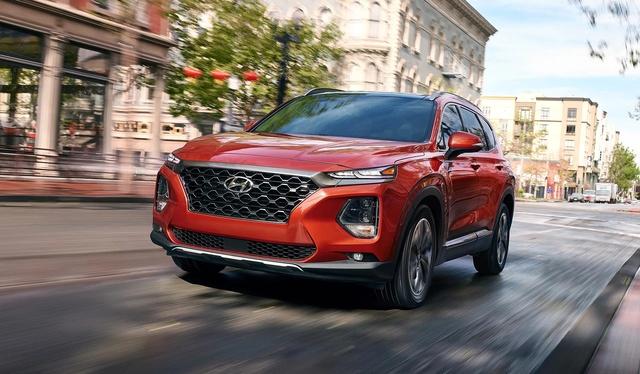 The 2019 Hyundai Santa Fe is arriving now.