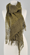 Wild silk scarf from the Sahalandy Federation, Madagascar