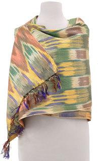 Ikat shawl from Uzbekistan