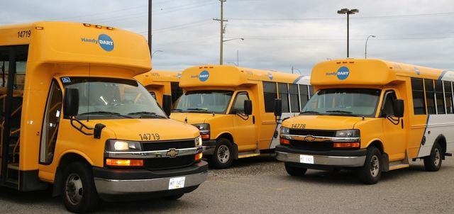 TransLink HandyDART vehicles