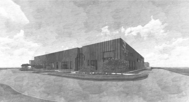 Original rendering of Signazon's new facility