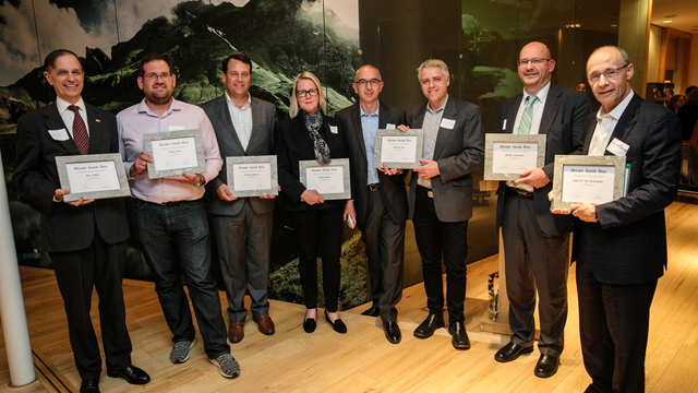 The newly appointed Greater Zurich Honorary Ambassadors at the award ceremony in Boston<br />