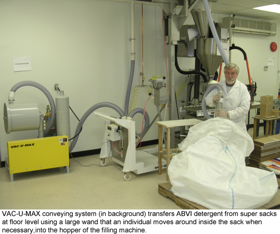 VAC-U-MAX pneumatic conveyor system.