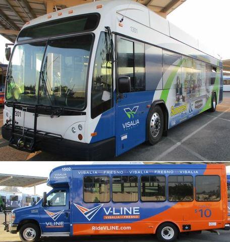 City of Visalia Transit bus equipment.
