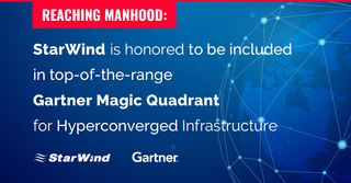 StarWind is included in 2018 Gartner Magic Quadrant for its Hyperconverged Infrastructure solutions