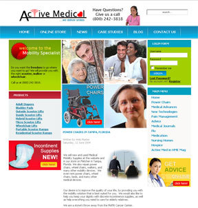 Medical Supply Website