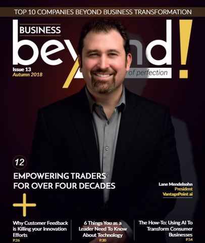 Lane Mendelsohn on the cover of Beyond Business Top 10 Companies Beyond Business Transformation