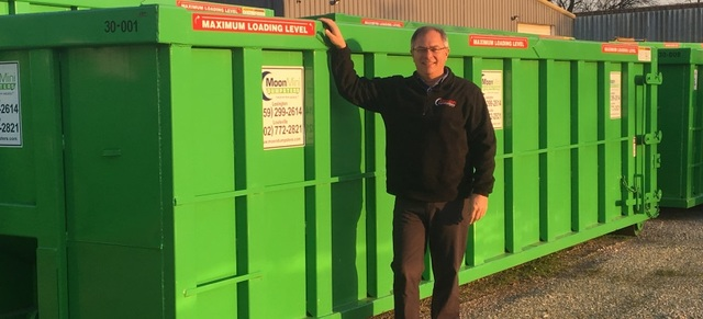 Moon Dumpsters' Bob Jones is excited to announce the line of commercial dumpsters to the Kentuckiana area.
