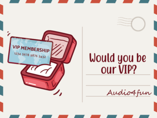 Audio4fun welcomes all users to explore a VIP Membership and write their own story for this Valentine's Day