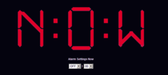 As with all of their online alarm clocks, The Time Is Now clock offers different options for the clock's background color.