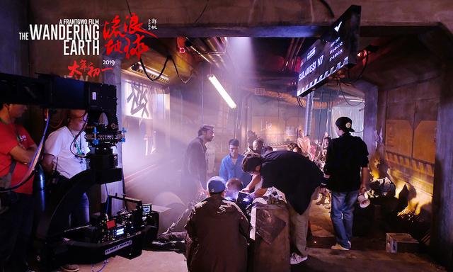 The Wandering Earth was shot at Oriental Movie Capital Industrial Park in Qingdao(photo by film crew).