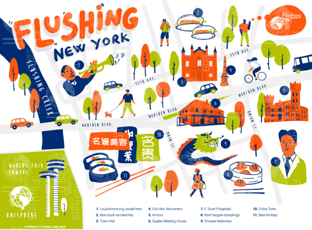 Interested in advertising on our map or our website? Feel free to call us at 877-NY-FLUSHING