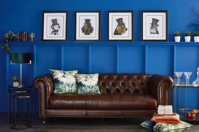 Halo Chester Leather 3 Seater Sofa