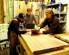 River City Wood Design is owned and operated by Trevor Black, Charles Gorman, and Clayton Jackson out of Jeffersonville, IN.