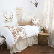 Cowhide Dorm Room Bedding