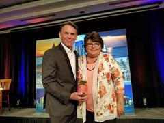 Macomb County Executive Mr. Mark Hackel presenting at this year's Macomb County Business Awards banquet.<br />