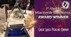 Great Lakes Pickling company receives award.