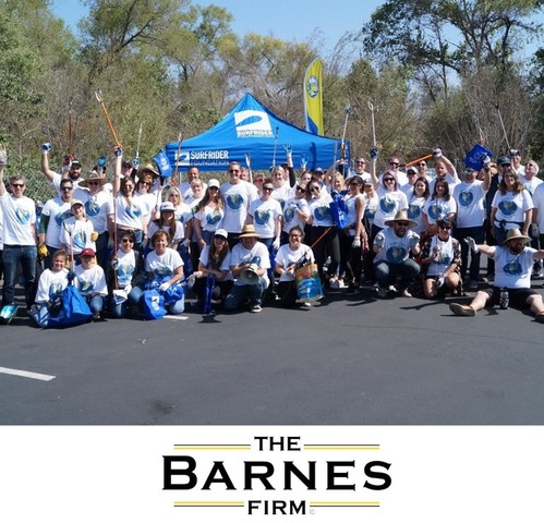 The Barnes Firm is proud to sponsor eco-friendly initiatives, including the Best in Class Earth Day cleanup of the San Diego River