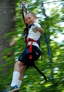 This young zip liner clearly approves!