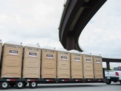Moon Portable Restrooms always has portable restrooms and luxury restroom trailers available to rent. All restrooms and restroom trailers are clean, well-maintained and delivered fully stocked.