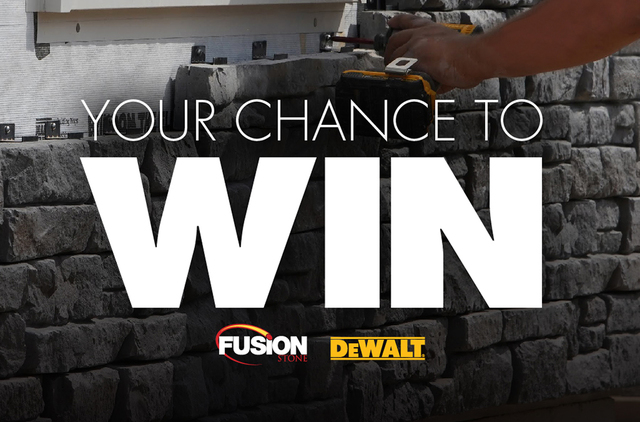 is especially proud and excited to welcome DEWALT® as a prize partner. The firm says customers can now win $4,000 of fusion stone + a dewalt® cordless combo kit.