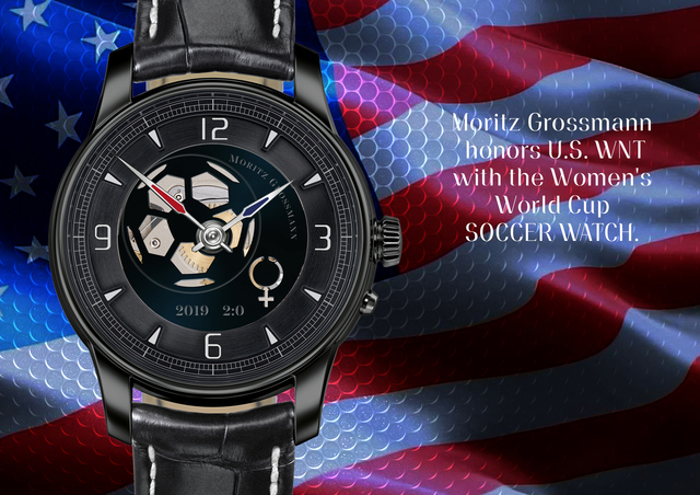 German luxury independent watch manufactory Moritz Grossmann honors U.S. WNT with the Women's World Cup SOCCER WATCH. Grossmann Uhren GmbH