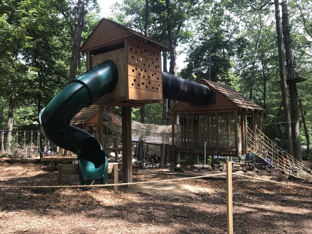The new Adventure Playground at The Adventure Park at Long Island is a wonderland of climbing for children age 3 - 6 years old.