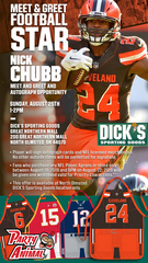 Party Animal Teams with DICKS Sporting Goods for Autograph Session with Nick Chubb