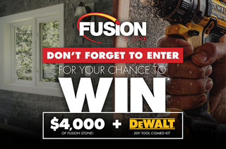 Fusion Stone Contest: Win $4,000 of Fusion Stone and a Dewalt Cordless Combo Kit