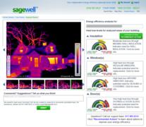 Sample thermal image report - part of Sagewell's comprehensive home energy audit / assessment program