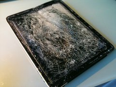 Some of the items we see are squeaky clean, others like this iPad have seen better days!