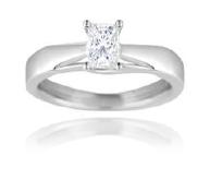 18ct White Gold, 0.40ct Princess Cut Diamond Engagement Ring - £1,699.00