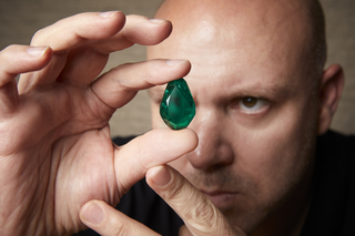 Kat Florence acquires rare antique 55.66-carat Colombian Emerald found in Italy by the extreme Gem Hunter Don Kogen