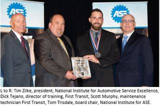 First Transit's Scott Murphy Recognized as Master Technician by the National Institute for Automotive Service Excel…
