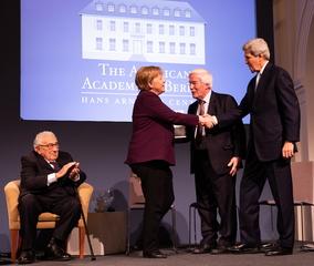Chancellor Angela Merkel Receives Henry A. Kissinger Prize