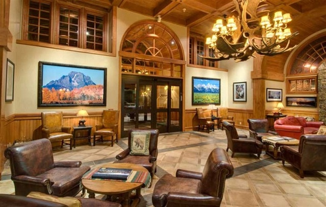 The Lobby of the Wyoming Inn in Jackson, Wyoming