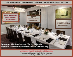 The Woodlands Lunch Forum to Host Longevity and Health Event February 28th At Amerigo's Grille
