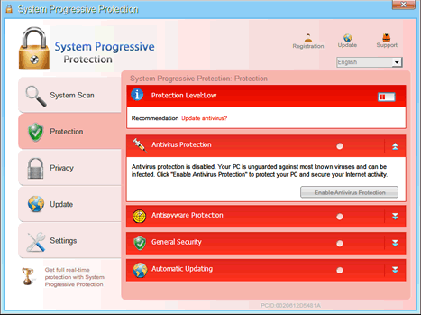 System Progressive Protection is a fake antispyware program created to steal your money!